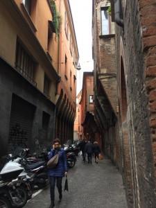 catherine dunne in italy - bologna - a vicolo - Copy